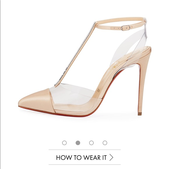 buy online 2ef48 fcc0f Christian Louboutin crystal heels
